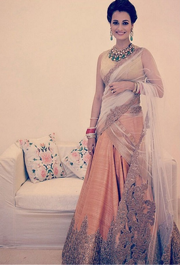 Dia Mirza reception look