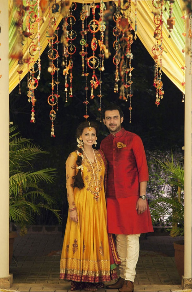 Dia Mirza wedding mehendi