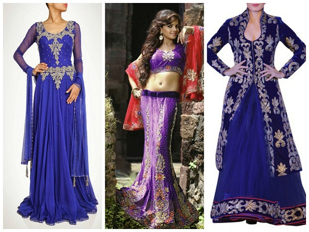 purple dress like Dia Mirza mehendi outfit