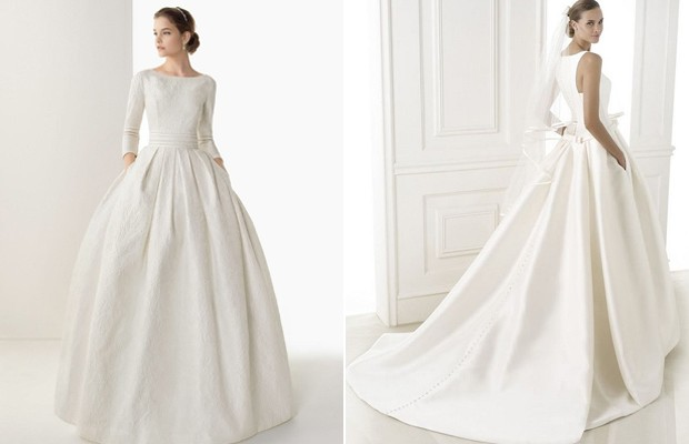 12 dreamy wedding dresses with pockets