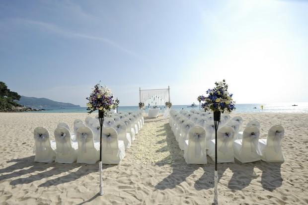 Beach wedding ceremony thailand