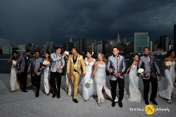 INDIAN ROYAL wedding in front of the NYC skyline