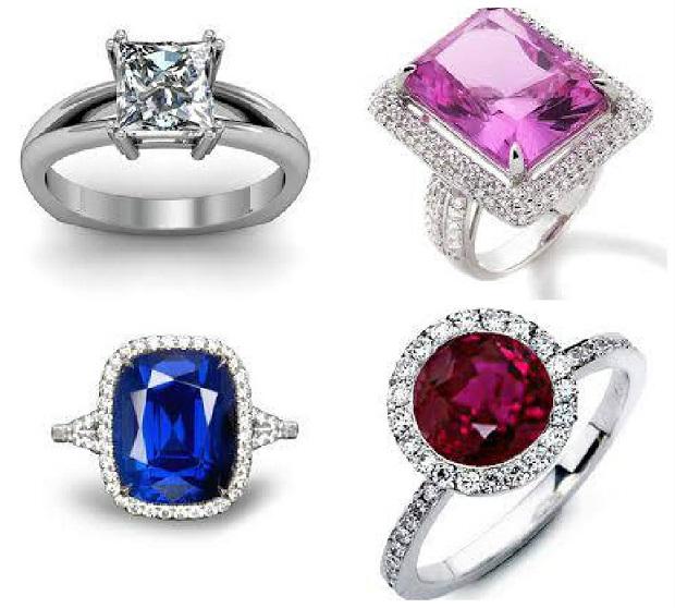 popular gemstone based wedding rings