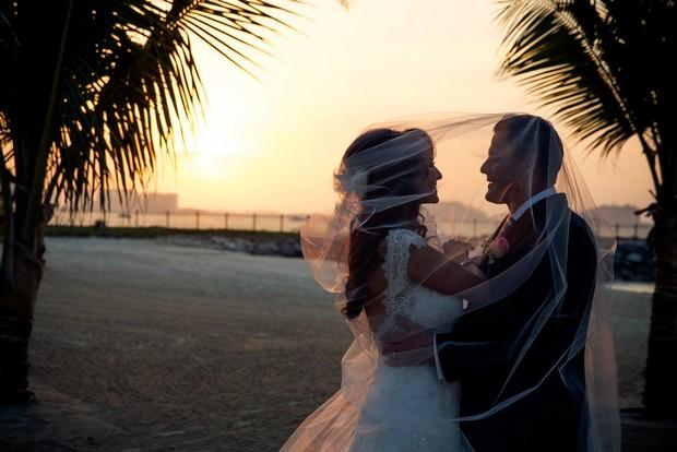 bride-and-groom-on-beach-UAE