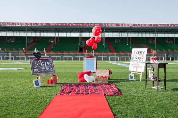 A Super Sweet Valentine Football Proposal Weddingsonline Ae