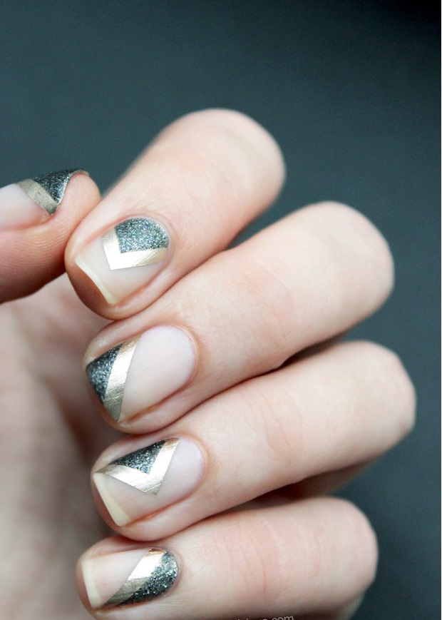 negative spaces Nail art trends for 2015 brides