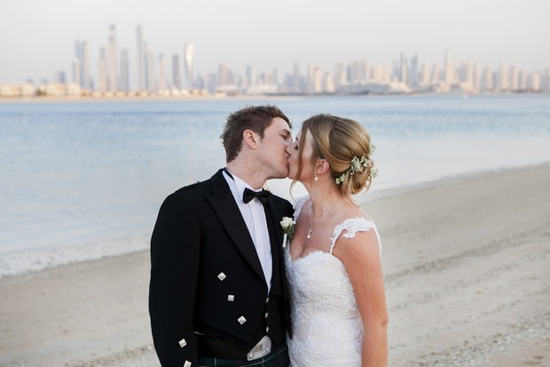 bride-and-groom-beach-wedding-uae