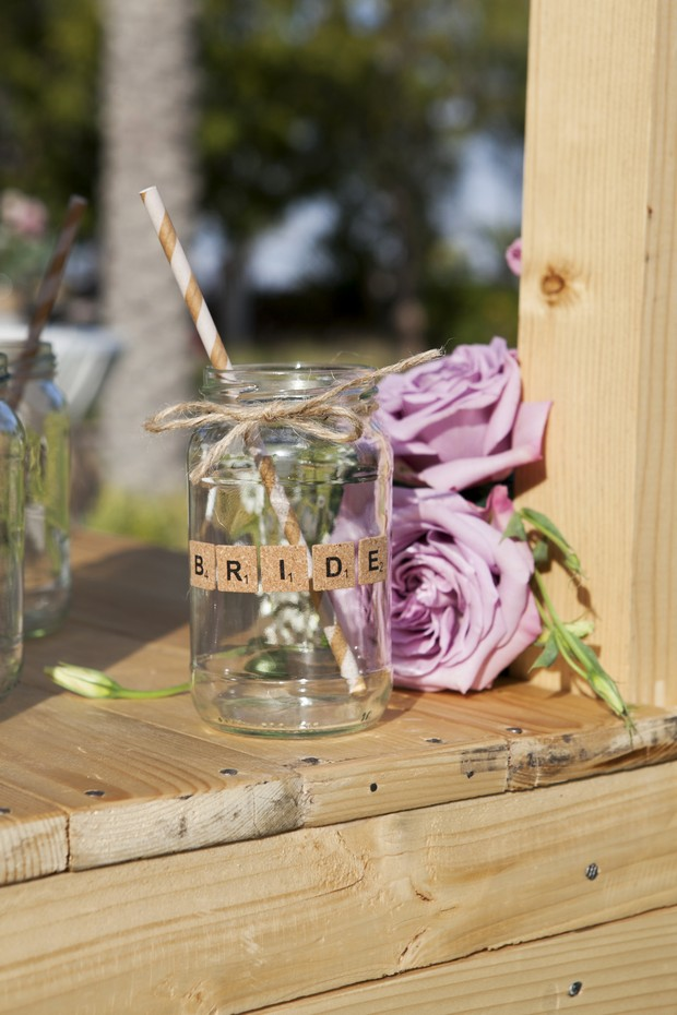 bride-mason-jar-cup-real-wedding-uae-dubai