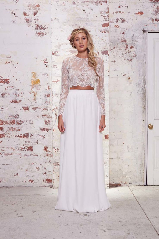 Wedding dresses we love bridal separates for Crop top wedding dress