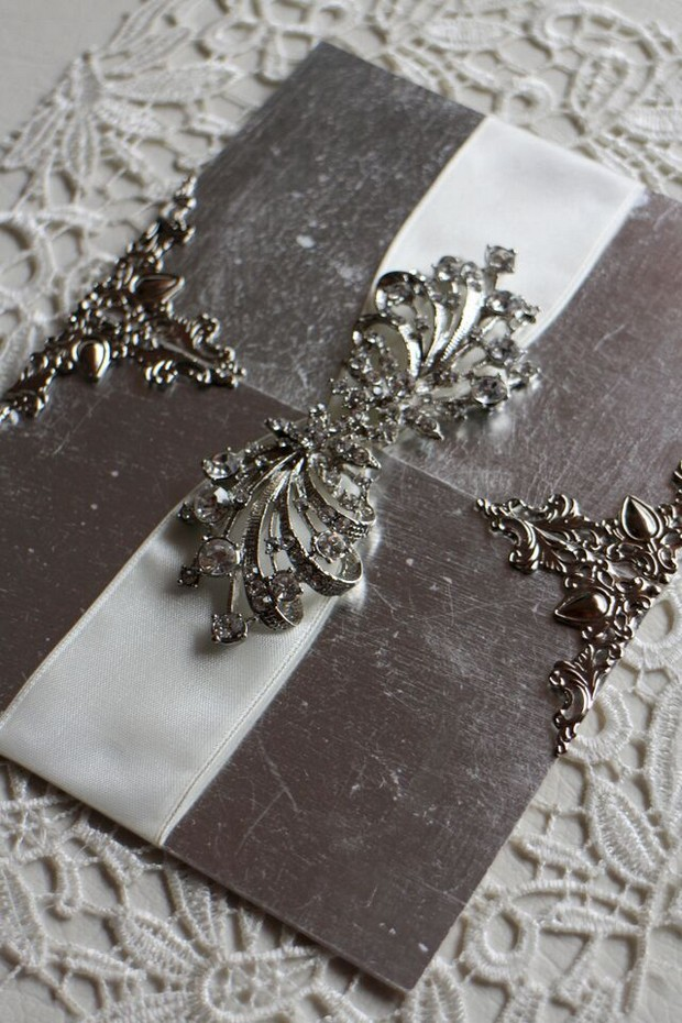 silver-ornate-wedding-invites-uae