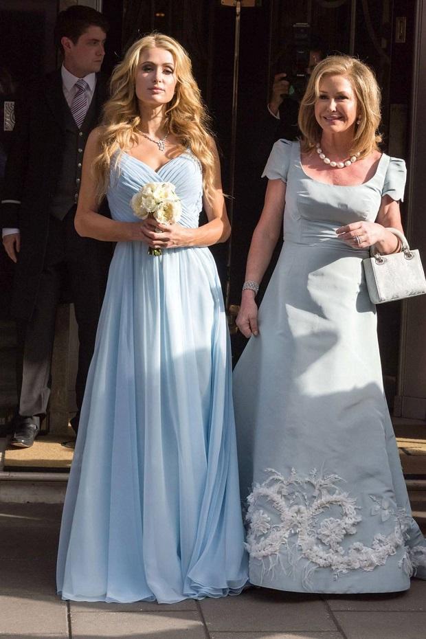 Paris Hilton at sister Nicky Hilton's wedding