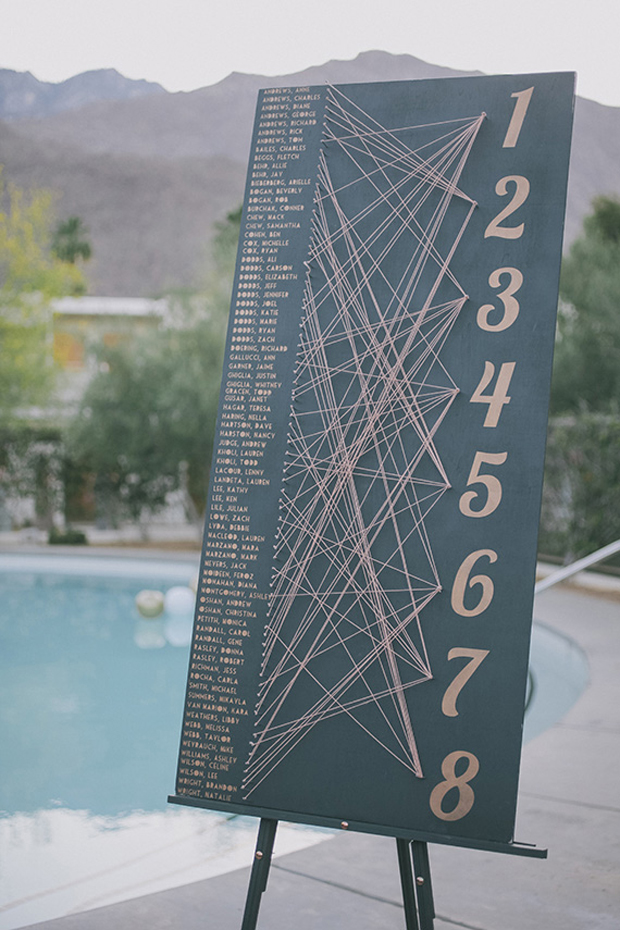 12 Beautiful Ways To Display Your Wedding Table Plan