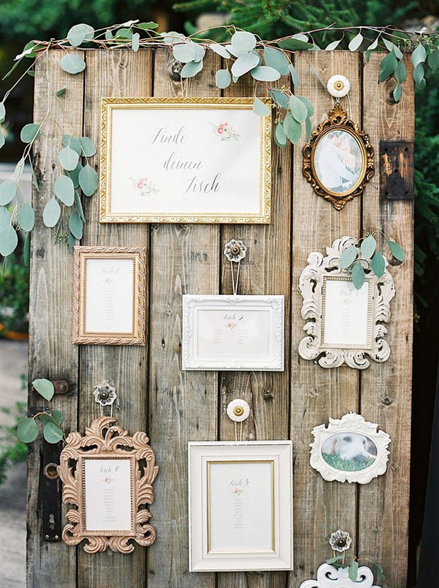 12 Beautiful Ways To Display Your Wedding Table Plan