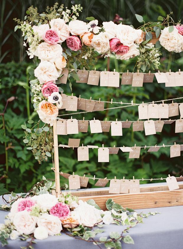 wood-floral-table-plan-wedding
