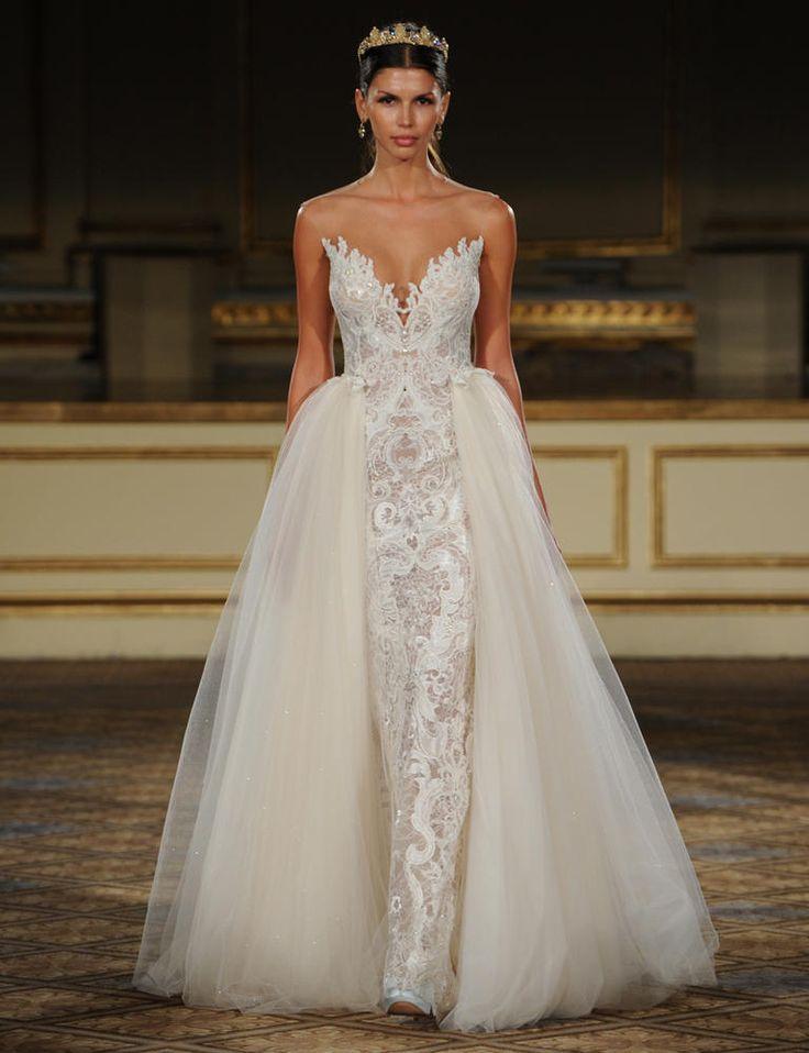 Detachable wedding dresses we love A line wedding dress with detachable train