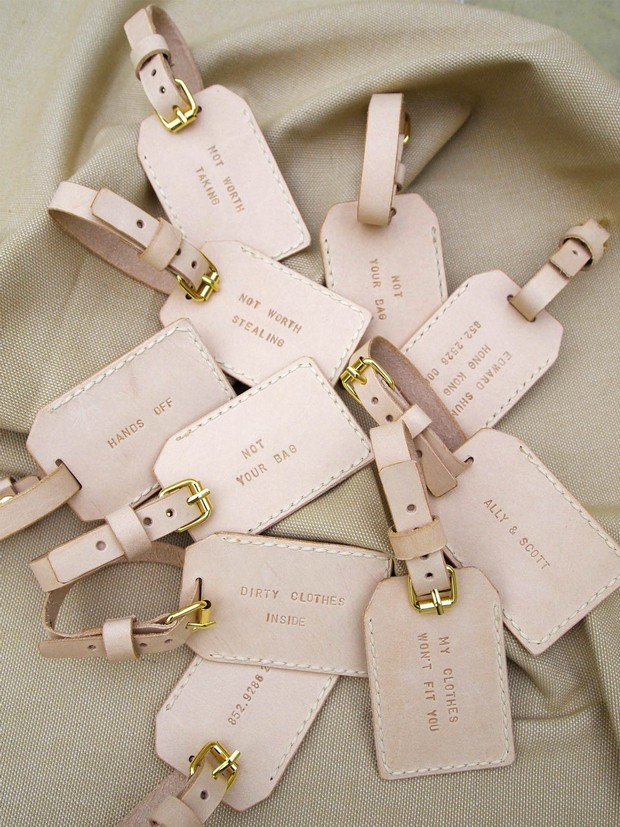 Travel Theme Wedding Favors Luggage Tags
