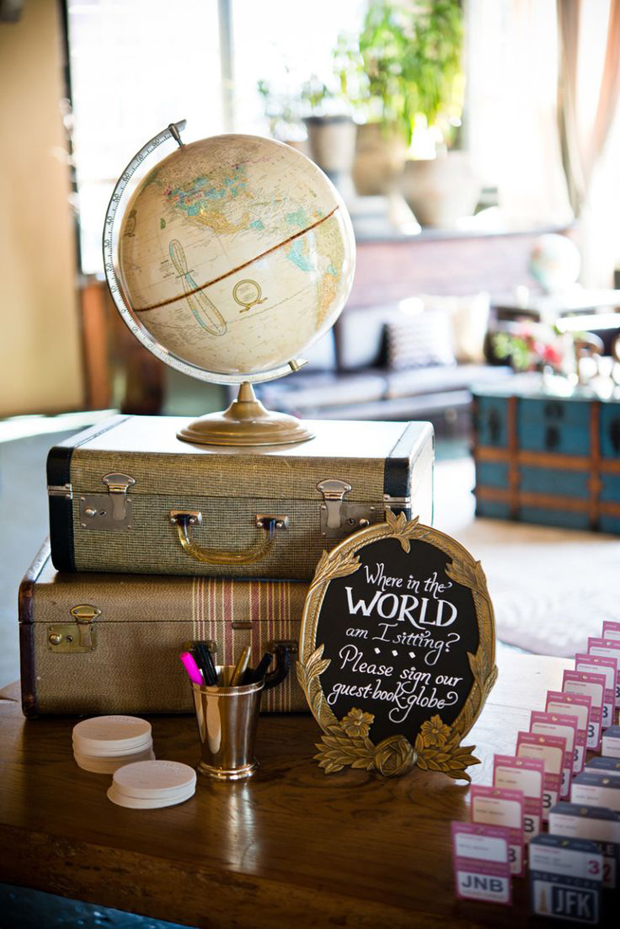 Marvelous travel themed wedding decorations images inspirations travel themed wedding ideas guest book marvelous travel themed wedding decorations junglespirit Gallery