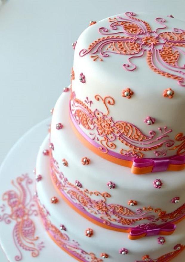 Arabic inspired wedding cake via flickr