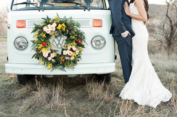 vintage volkswagen campervan wedding transport uae
