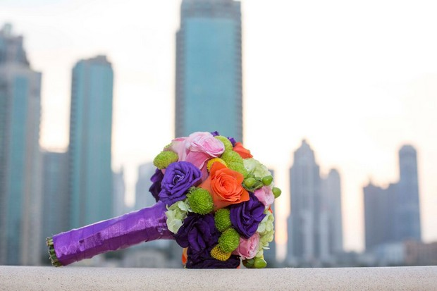 dubai-real-wedding-colourful-bridal-bouquet