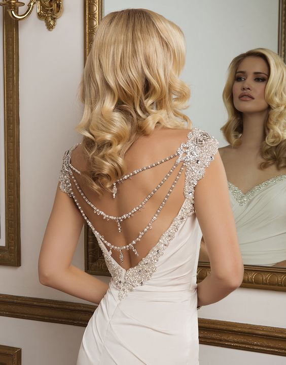 20 bridal shoulder and back jewelry pieces for Back necklace for wedding dress