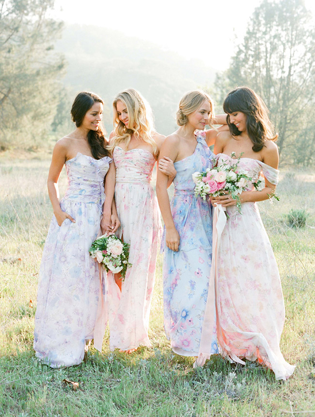 mix-and-match-bridesmaid-dresses-florals