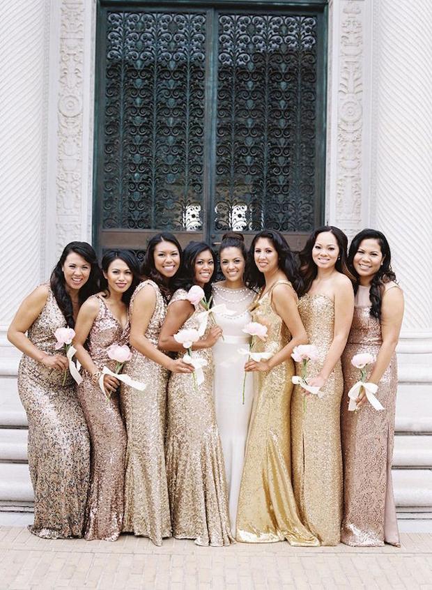 mix-and-match-bridesmaid-dresses-metallics