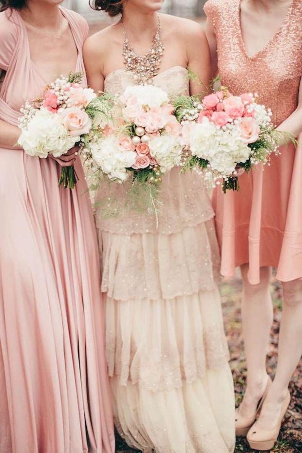 mix-and-match-bridesmaid-dresses-pinks