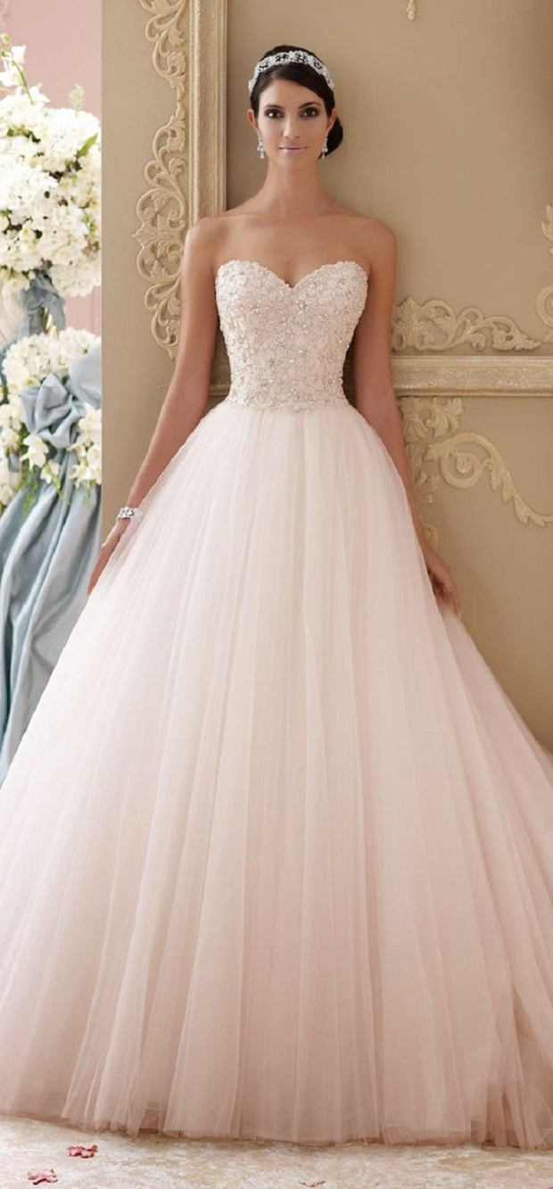 15 Beautiful Blush Wedding Dresses We Are Totally In Love With ...