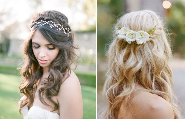 10 of the best half up half down wedding hairstyles with