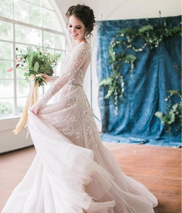 10 Lovely Long Sleeved Wedding Dresses For UAE Brides