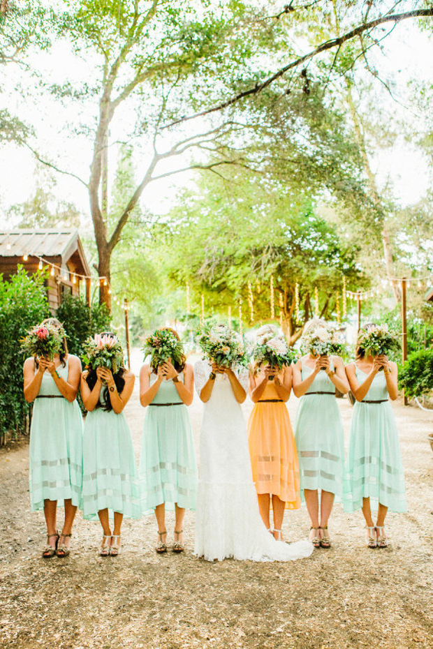 6 super stylish ideas for your maid of honor for Different colored wedding dresses
