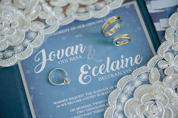 Jovan and Ecelaine's wedding bands