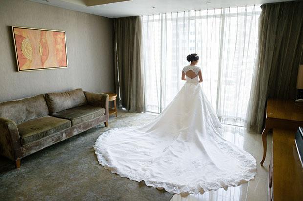 Ecelaine's wedding gown