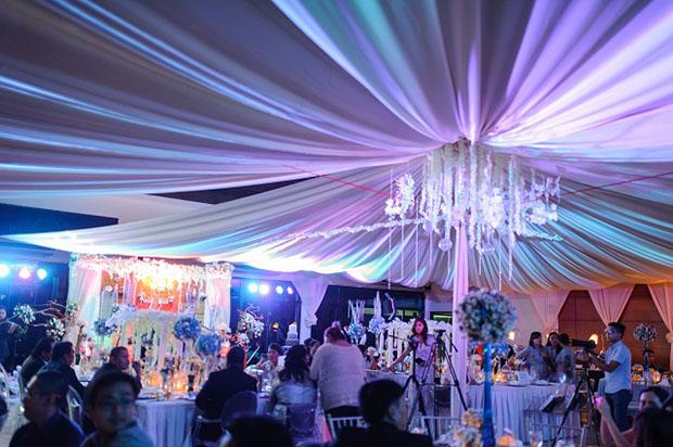 Ecelaine and Jovan's wedding reception