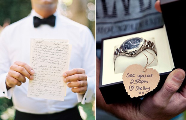 Sentimental Wedding Gift Ideas For Groom : 10 Romantic Wedding Morning Gift Ideas for Groomsweddingsonline.ae