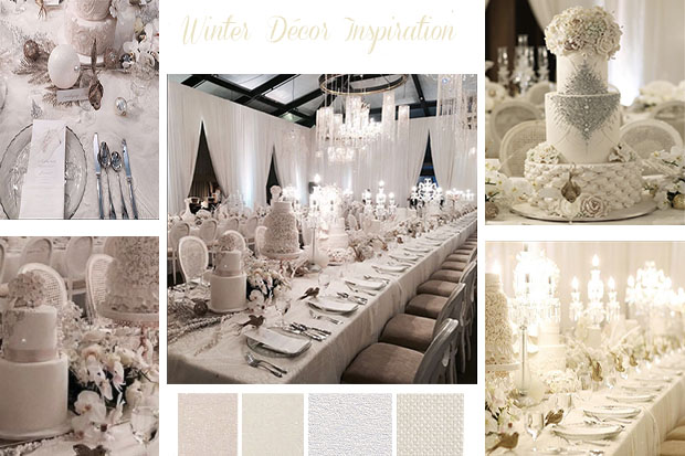 Winter Wedding Decor Inspiration, Wedding cakes, Wedding flower, Winter Wedding in Dubai