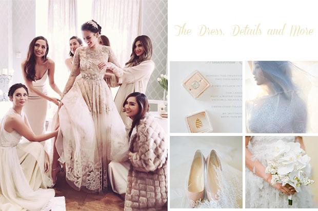 Bridal Dress, Wedding Shoes, Flowers