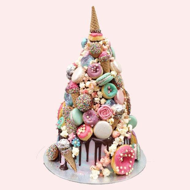 Unicorn Croquembouche 2017 Wedding Cake Trends
