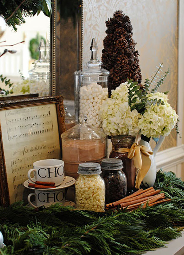 Hot Chocolate Bar Christmas Theme Bridal Shower