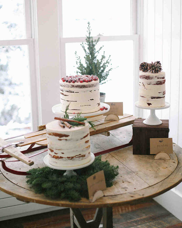 Christmas Theme Bridal Shower Christmas Cake