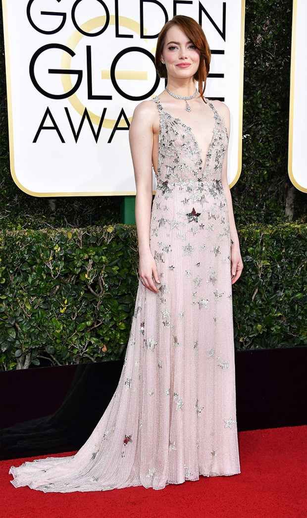 Hot Bridal Inspo from the Golden Globes Emma Stone Golden Globes