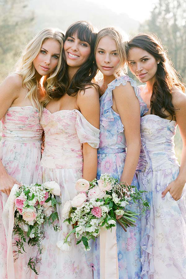 Mix and Match bridesmaid trend 2017