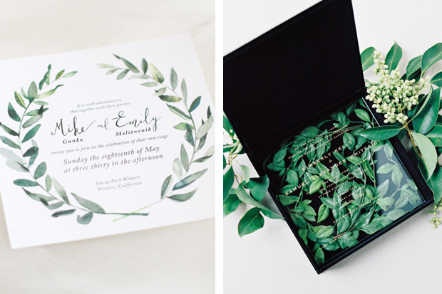 Pantone Colour of 2017 Greenery Invitation Ideas