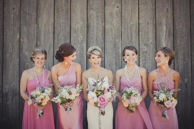 mix match bridesmaid dress 2017 pink