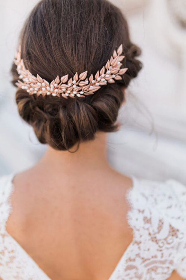 bridal gold hairband 2017