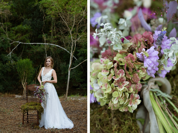 Forest Bride Bouquet and Fashion