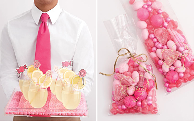 Pink Lemonade and candy