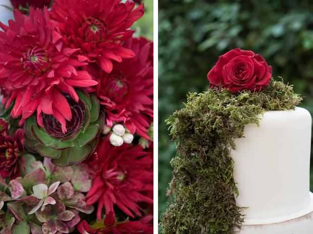 cake flower forest bride