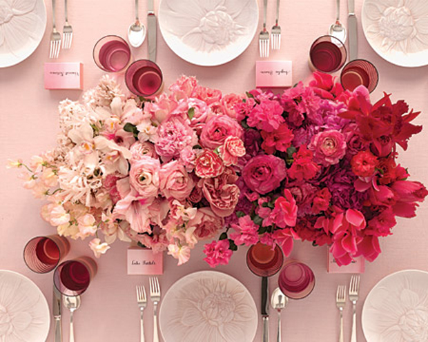 ombre flower center piece